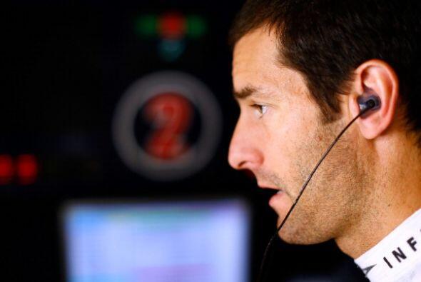 Mark Webber fue relegado al fondo de la grilla por no poder proporcionar...