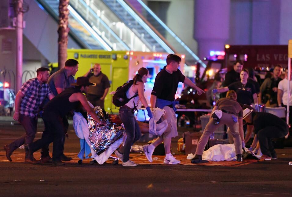 Los heridos en el tiroteo de Las Vegas fueron llevados a varios hospital...