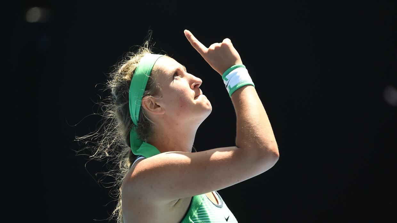 Azarenka venció  Barbora Strycova