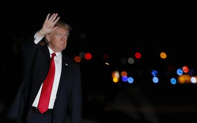 Donald Trump aterrizó este viernes en West Palm Beach, Florida, d...
