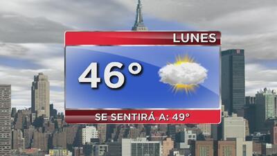 Frío moderado, lluvias ligeras y cielo mayormente nublado este lunes en Nueva York