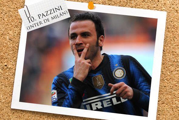 Otro goleador de raza es el italiano Giampaolo Pazzini, futbolista del I...