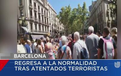 Barcelona se recupera tras atentados terroristas