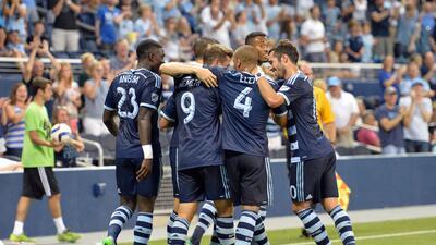 Sporting Kansas City celebra la goleada sobre FC Dallas en la Open Cup
