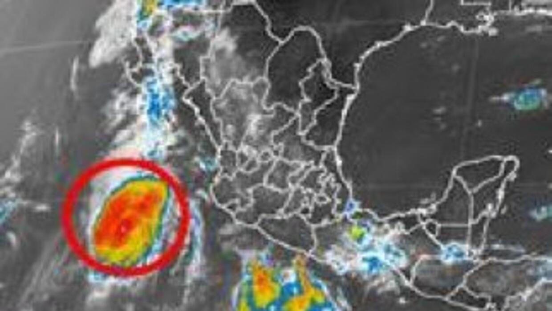El avance de la tormenta Hernán. (Imagen del Servicio Meteorológico Naci...
