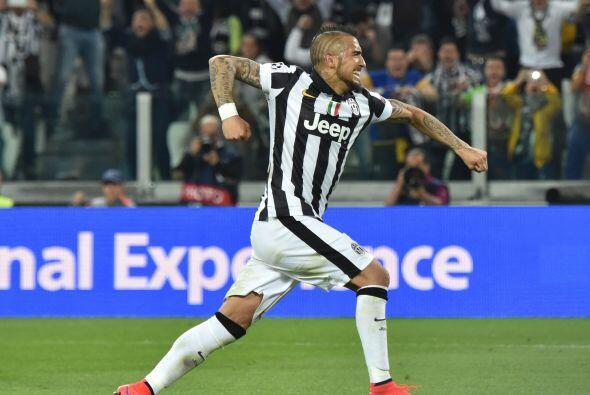 La polivalencia de Vidal le permite a la Juve descontrolar a sus rivales...