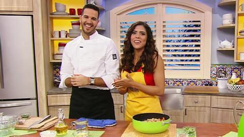 Francisca se echó un taco de ojo con el Chef Jesús Díaz y su Pollo a la...