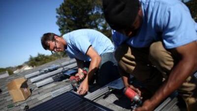 Placas solares en Santa Mónica.