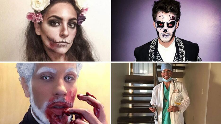 Actores de novela en Halloween