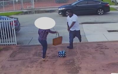 Captado en cámara quedó el robo del que fue víctima una mujer frente a s...