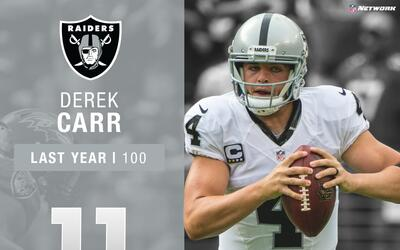 #11: Derek Carr (QB, Raiders) | Top 100 Jugadores 2017