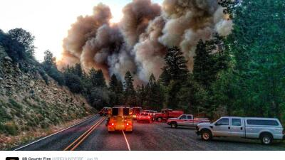 Lake Fire en California
