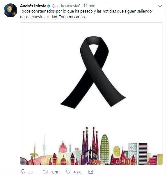 El mundo del deporte se solidariza con las víctimas de Barcelona BCN38.JPG