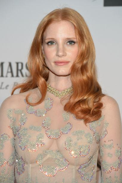 "32. JESSICA CHASTAIN Nominada al Oscar por ""Zero Dark Thirty"", ""The Help..."
