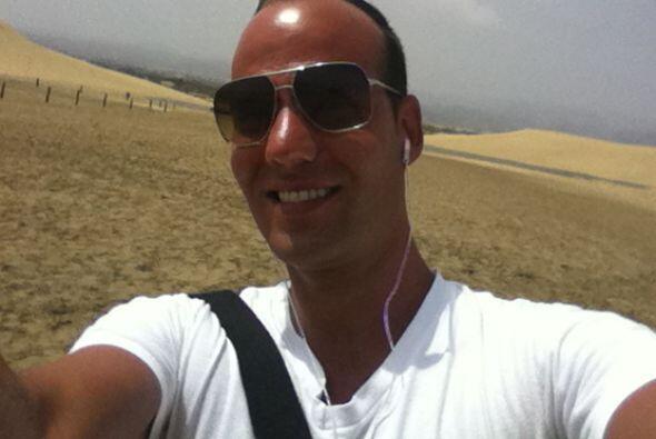 Tuvo hasta la oportunidad de ver camellos ytambién disfrutó del aire fre...