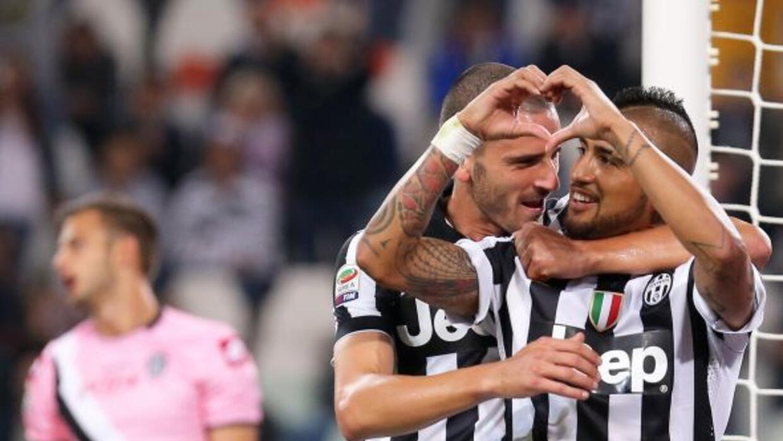Arturo Vidal comandó la goleada de la Juventus sobre el Cesena.