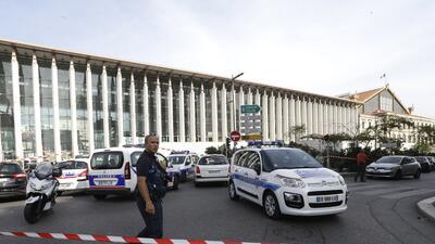 Esta es la estación de tren de  Saint Charles, en Marsella, Francia que...
