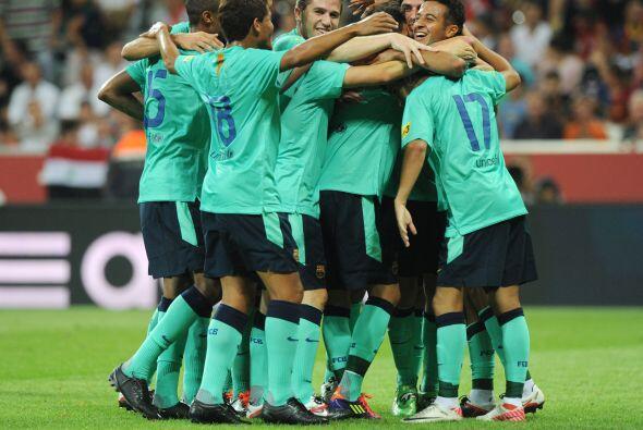 El equipo alemán fue ampliamente superado por el 'toque' del Barc...