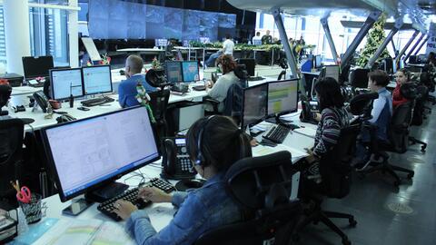 La sede de la línea 123 Medellín, un sistema al que tambi&...