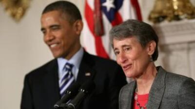 Sally Jewell nominada por Barack Obama para secretaria de Interior de EEUU.