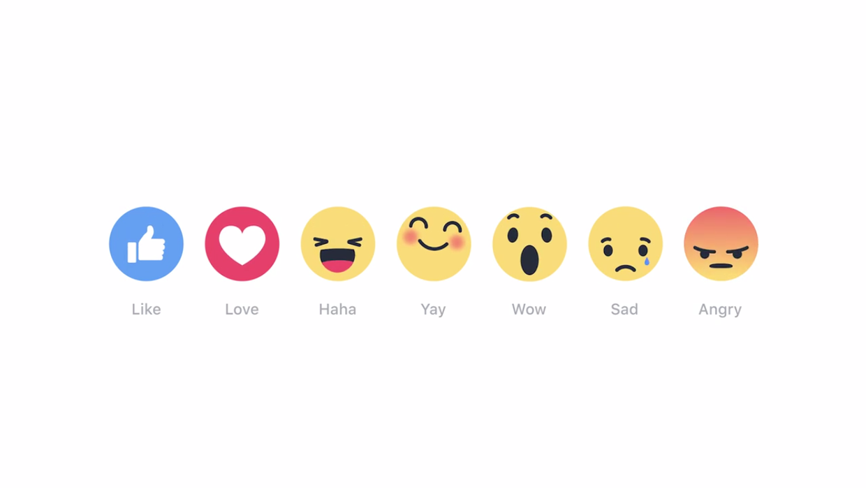 """Las nuevas """"reacciones"""" de Facebook"""