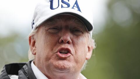 Trump en declaraciones a periodistas desde Florida.