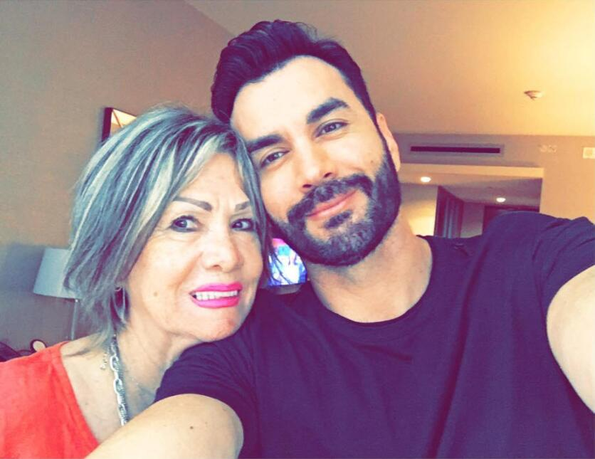 David Zepeda y su mamá