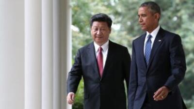 Xi Jinping y Barack Obama en la Casa Blanca.