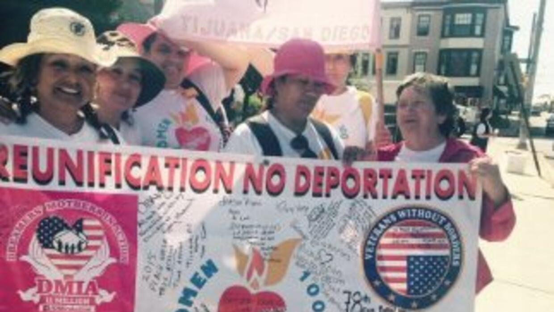 Indocumentadas marchan hacia Washington
