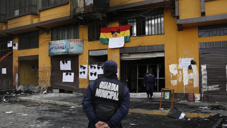 Así quedó la Alcaldía de El Alto, después del incendio