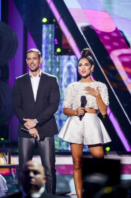 William Levy y Alejandra Espinoza recordaron tiempos pasados.