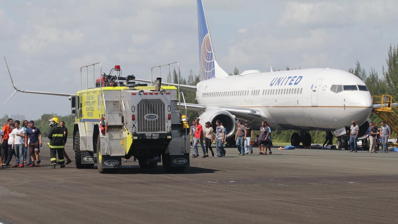 Simulacro de accidente aéreo en Puerto Rico