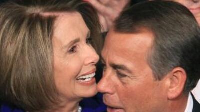 La representante Nancy Pelosi (demócrata de California), líder de la min...