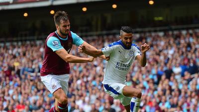 Leicester City derrotó al West Ham para tomar el liderato en Inglaterra.