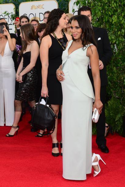 Kerry Washington luce maravillosa embarazada y dejó claro, que aunque su...