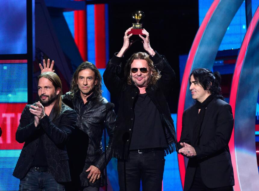 La banda mexicana Maná fueron los ganadores del Premio a Mejor Álbum de...