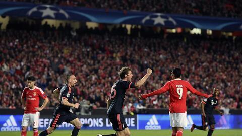 Thomas Müller anotó el segundo gol del Bayern en Portugal
