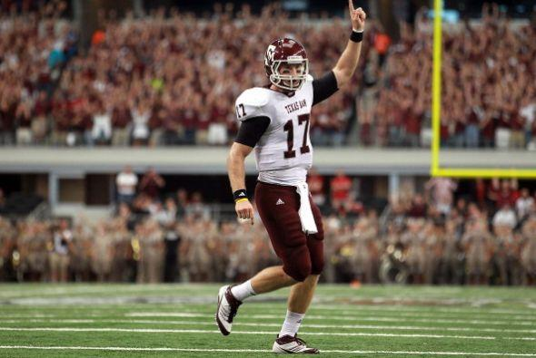 """3. Ryan Tannehill - Texas A&M - Edad: 23 años - Estatura 1.93 m (6'4"""") -..."""