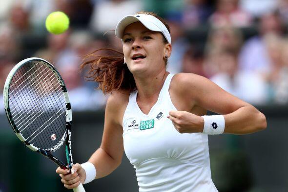 La primera en entrar a la final de Wimbledon fue polaca Agnieszka Radwan...
