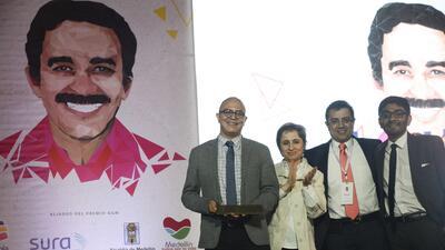 Desde la izquierda, Rafael Cabrera, Carmen Aristégui, Daniel Lizárraga y...