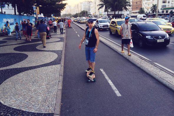 William encontró la mejor manera de viajar por todo Río.