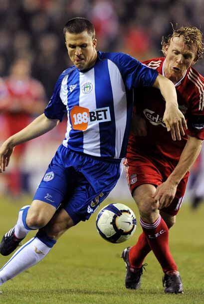 En la Liga inglesa, el Liverpool fue a la cancha del Wigan.