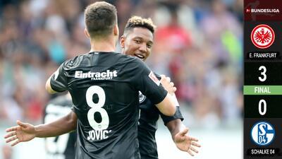 Doblete de Luka Jovic impulsa al Eintracht para escalar a la cuarta posición de la Bundesliga