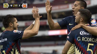 Cecilio Domínguez celebró de gran forma su primer gol del torneo.