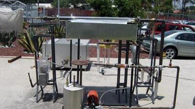 Esta estufa aprovecha la energía solar al máximo. (Foto: Twitter)