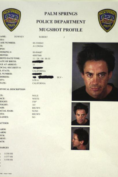 El nuevo milenio le vino muy mal a Robert Downey Jr. Y como dice la fich...