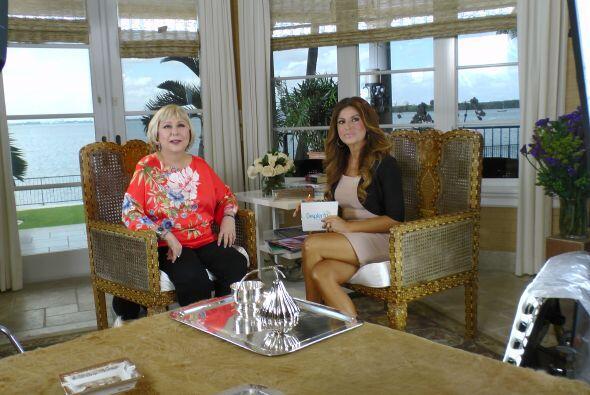 Saralegui nos recibió en una hermosa casa en la Bahia de Key Biscayne en...