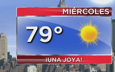 Miércoles 28 de junio totalmente soleado en Nueva York