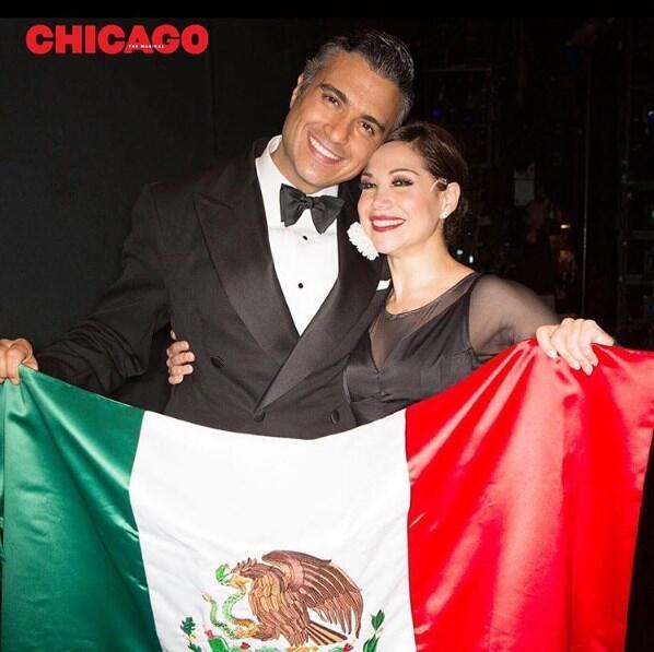 Bianca Marrqouín y Jaime Camil musical Chicago