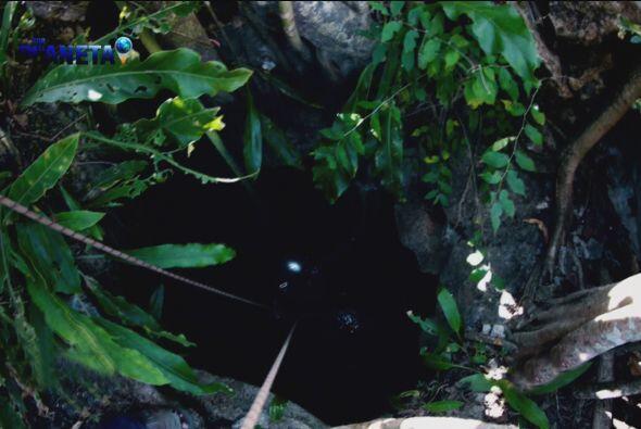 Existen cenotes con entradas muy pequeñas.
